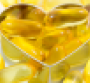 Fish oil pills with heart shape