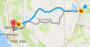 Map of Boulder to Anaheim