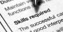 Job description on paper