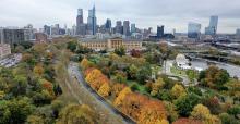 Philadelphia Art Museum in autumn