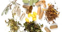 Herbs and capsules