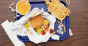 Fast food on a tray