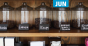 coffee beans in jars