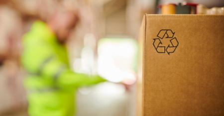 Recyclable Package in Warehouse