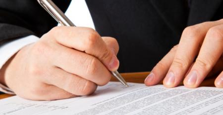signing a business deal