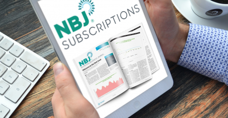 Tablet reading NBJ subscriptions