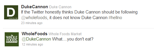 Whole Foods Twitter exchange