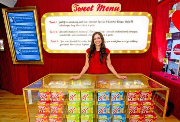 Kellogg's tweet menu