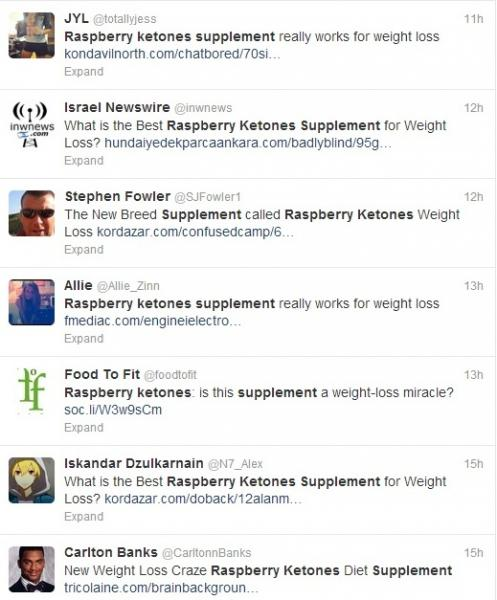 Raspberry ketones tweets