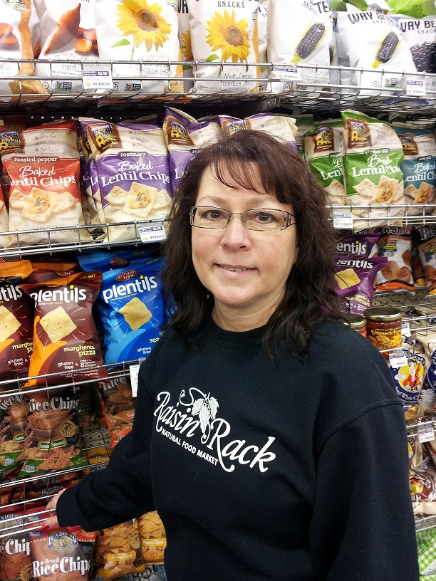 Sunny McDonald-Sargent, gluten-free manager and buyer at Raisin Rack Natural Foods in Westerville, Ohio