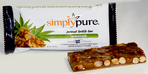Simply Pure medical marijuana-infused peanut brittle